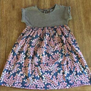 Girls' Tea Collection Mixed Print Empire Dress